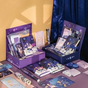 Conjunto con caja de regalo cuaderno + pegatina + cinta Washi + papel de carta + juego de tarjetas, papelería, diario, amigo, mi príncipe, edición limitada, 2021