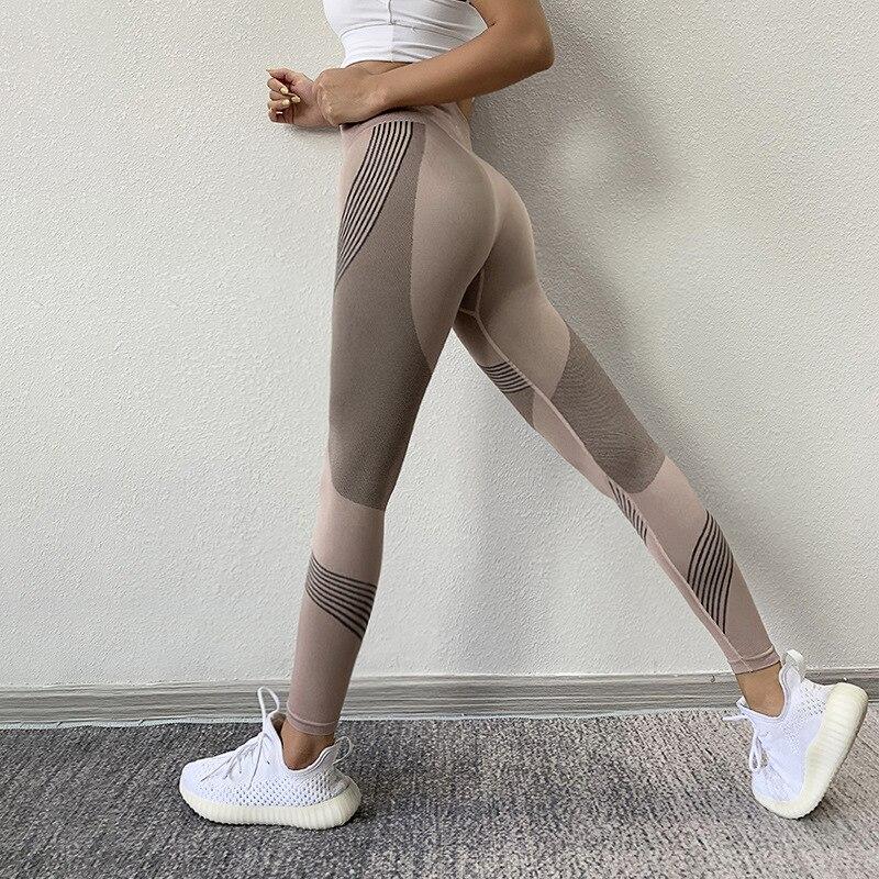 CHRLEISURE Fitness Yoga Pants Seamless Sports Leggings Energy Gym Women Legging High Waist Push Up Workout Running Sportswear