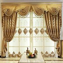 Jacquard Chenille Sombra Cortinas para Quarto Sala de Estar Sala de Jantar europeu.