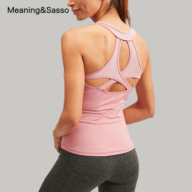 Women Yoga Shirt Backless Sleeveless Female Shirts Quick-Dry Sports Vest Breathable Womens Sportswear yoga Fitness Workout Tops 3