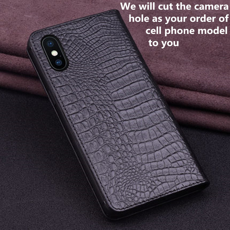 Image 5 - Business genuine leather side magnetic buckle wallet phone case  card holder for Samsung Galaxy A10 A30 A40 A50 A60 A70 phone bagFlip  Cases