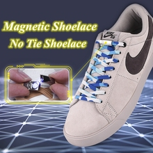 1 Pair No Tie Shoe laces Magnetic Elastic Shoelaces Kids Adult Quick Lazy Outdoor Leisure Sneakers Locking Flat Shoelace