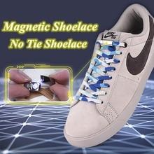 1 пара без галстука шнурки эластичные шнурки магнитной детей взрослых быстрая ленивый отдых кроссовки плоские шнурки замок