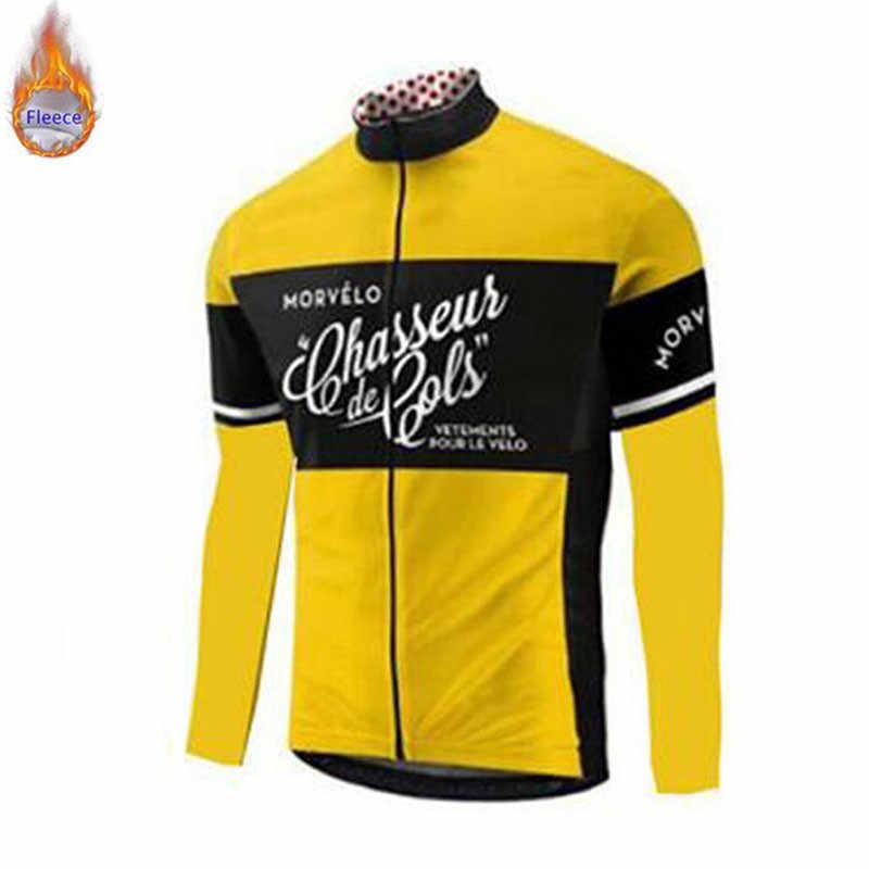 EQUIPO PROFESIONAL Morvelo invierno Ropa de ciclismo de lana térmica traje de Jersey para hombre bicicleta de montar gruesa MTB conjunto de Ropa de abrigo Ropa ciclismo