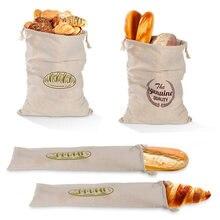 Льняные пакеты для хлеба многоразовый мешок на шнурке булочек