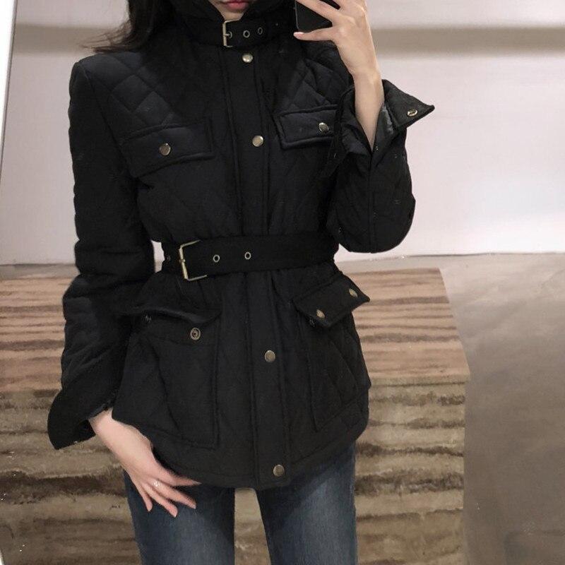 Купить шикарный дизайн простой однотонный пояс с высокой талией пальто