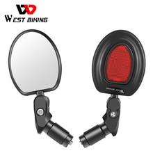 WEST BIKING Bike Rearview Mirror Wide Angle MTB Road Bicycle Handlebar Mirror 360 Rotation Adjustable Cycling Rear View Mirror