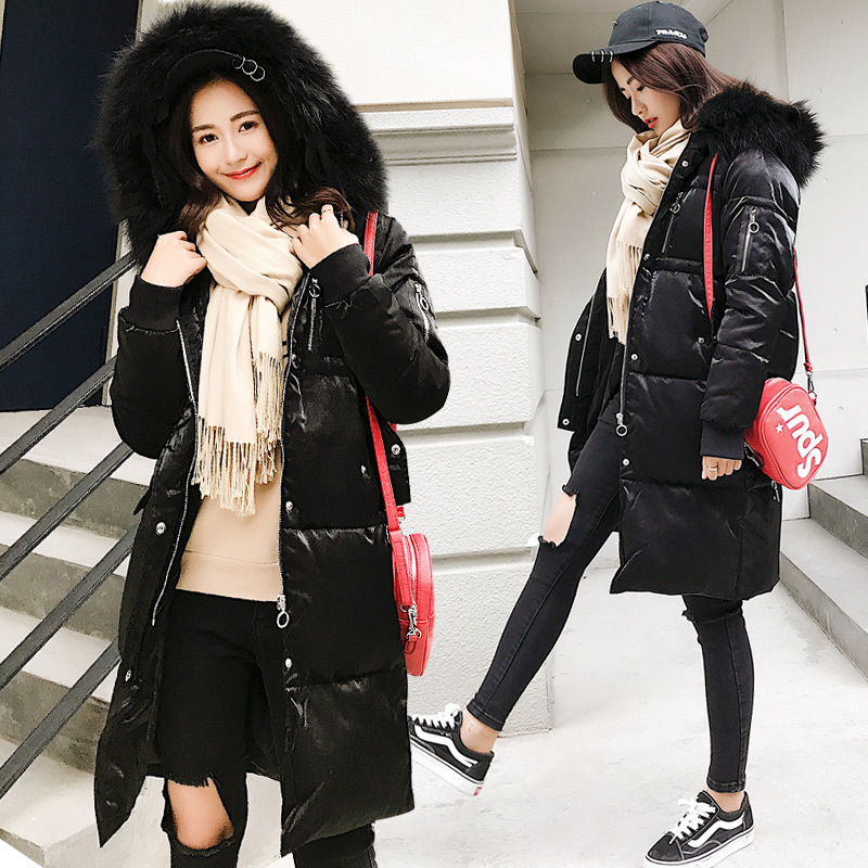 Warm Down Parka Women Duck Down Jacket Female Winter Coat 2019 New Brand Long Natural Raccoon Fur Overcoat Hiver 1019