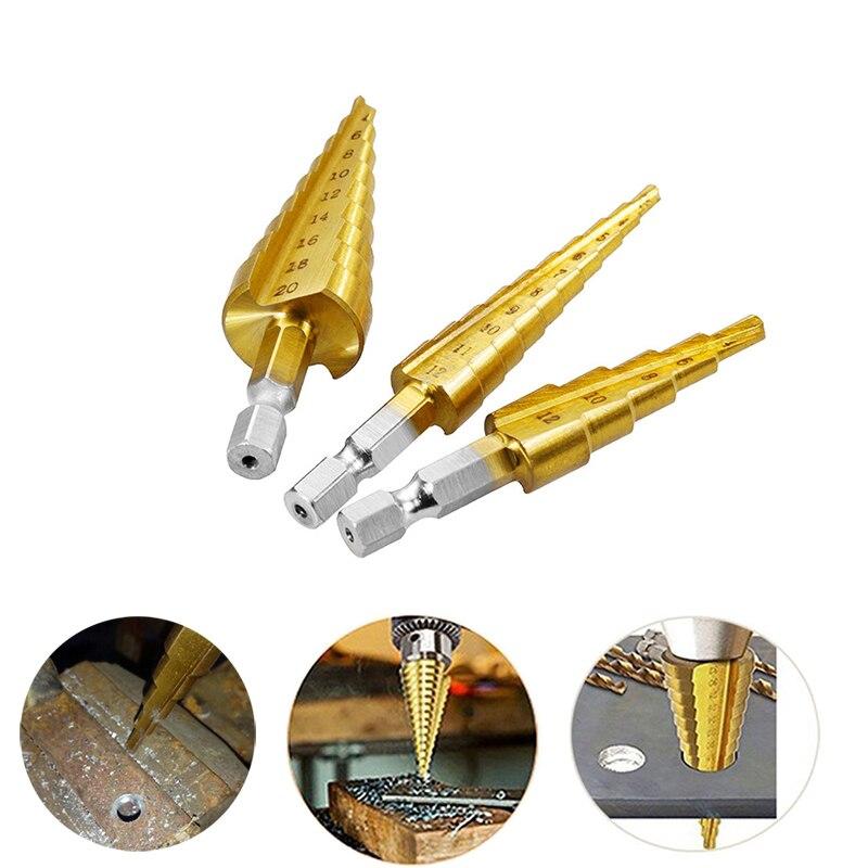 1pc Cake Home Garden Steel Step Cone Titanium Drill Bit Tool Hole Cutter Tools