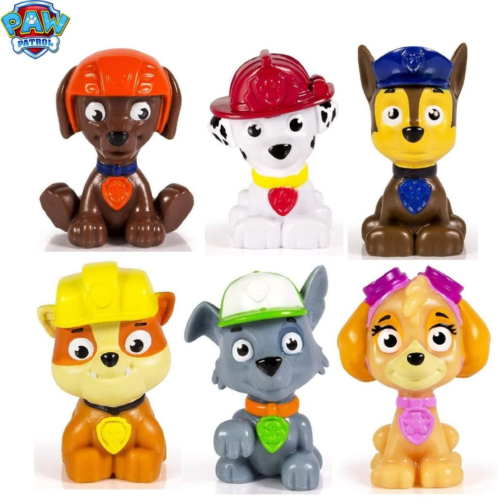 Paw Patrol Toys Set 5cm Anime Figure PVC Action Figure Birthday Party Patrulla Canina Toys For Chidren Christmas Gift 2D02