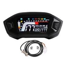 MLS062 RPM Tachometer Tachometer Kilometerzähler Getriebe Display LCD DC 12V Gauge 199 km/h KMH MPH 1/2/3/4/5/6N Für 1 2 4 Zylinder