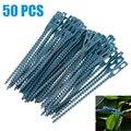 50 шт Регулируемые пластиковые растительные кабельные стяжки Многоразовые Кабельные стяжки для садового дерева для альпинизма 13 5 см