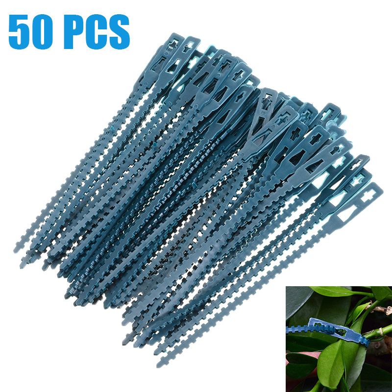 50pcs Adjustable Plastic Plant Cable Ties Reusable Cable Ties For Garden Tree Climbing Support 13.5cm