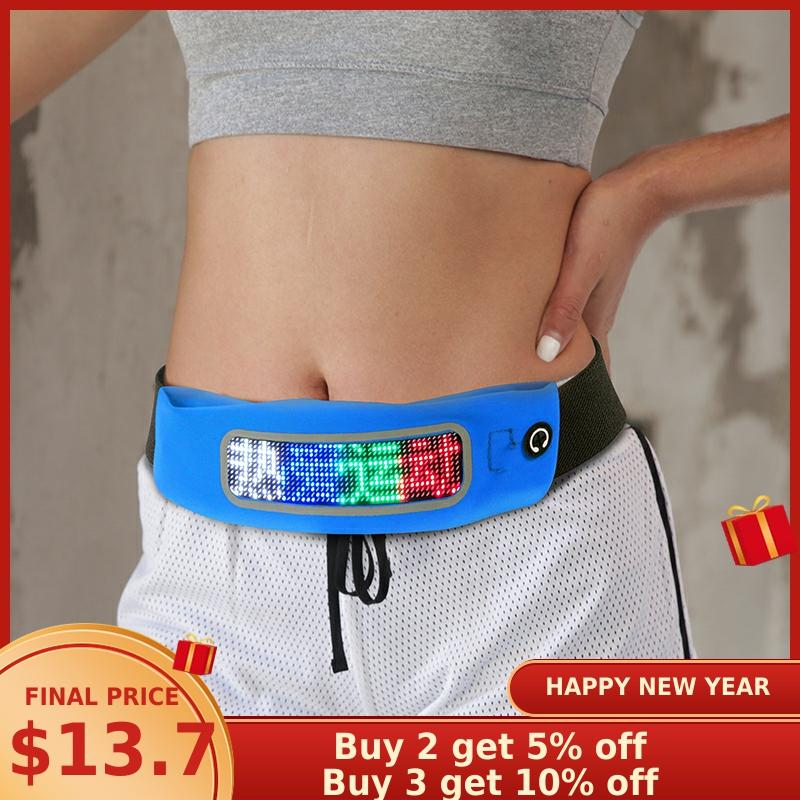 Edison Waist Bag Fashion LED Fanny Pack Bluetooth Control Multi-Function Waterproof Belt Bags Mobile Phone Running Fanny Packs