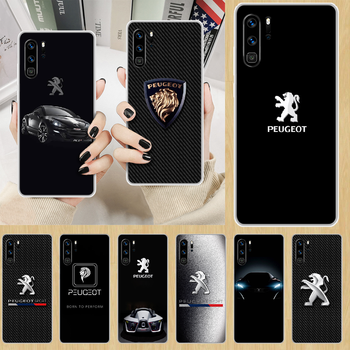 Car Peugeots logo Phone Case hull For HUAWEI p 8 9 10 20 30 40 smart Lite 2017 19 Pro Z transparent coque painting waterproof image