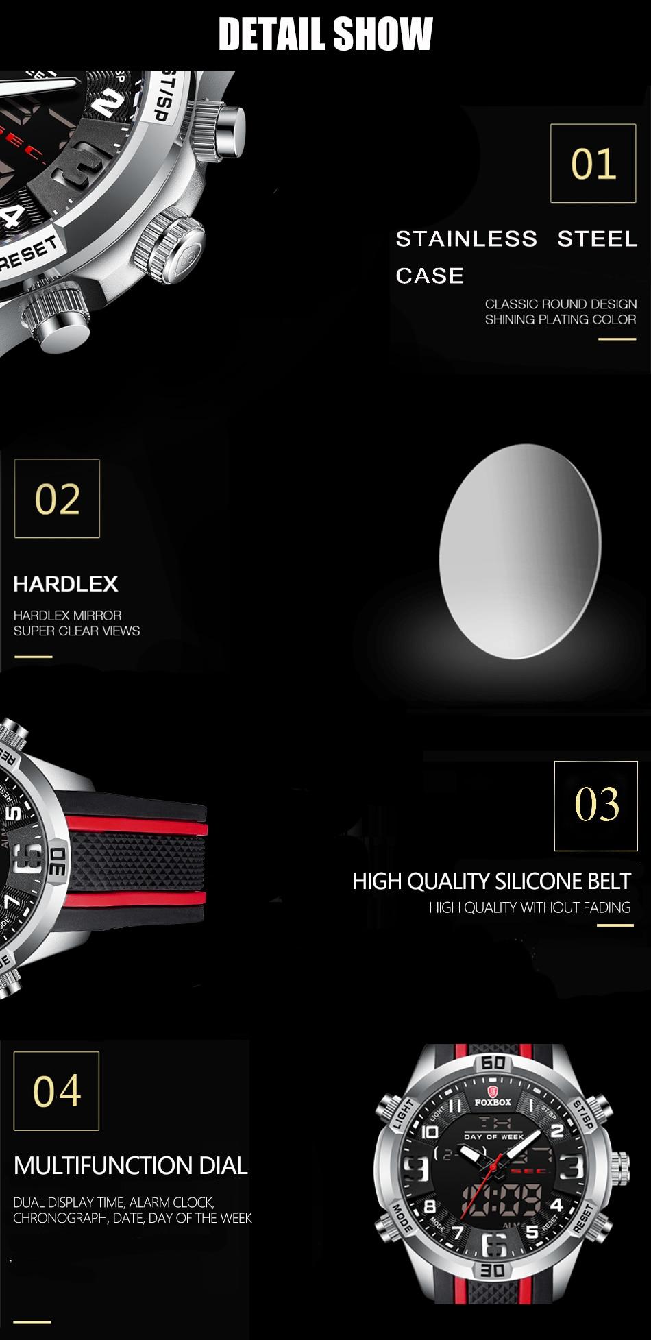 H8223f176725c4d65b117ec1cb82316daz Watch For Men FOXBOX Top Brand Luxury Dual Display