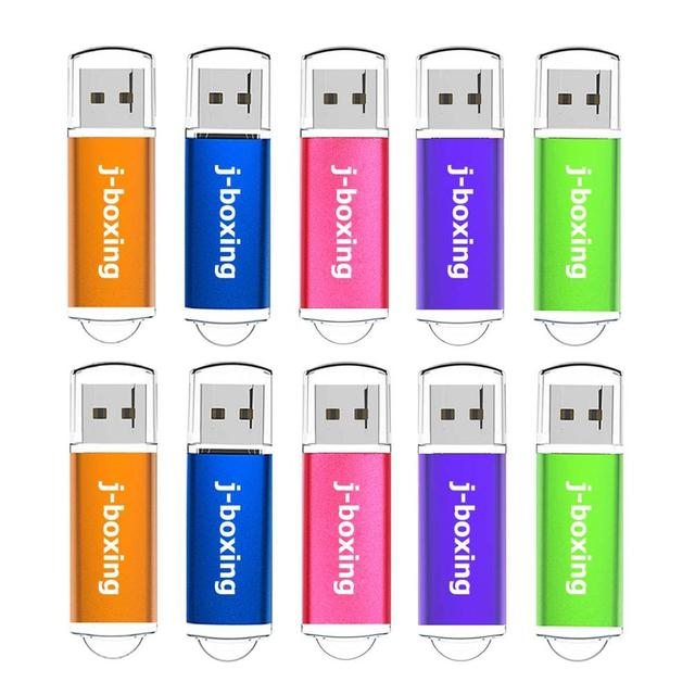 J 권투 10PCS USB 플래시 드라이브 512MB 256MB 128MB 64MB 소용량 메모리 스틱 점프 드라이브 펜 드라이브 데스크탑 멀티 컬러