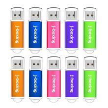 J boxing unidad Flash USB de 512MB, 256MB, 128MB, 64MB, memoria de poca capacidad, Pen Drive para escritorio, multicolor, 10 Uds.