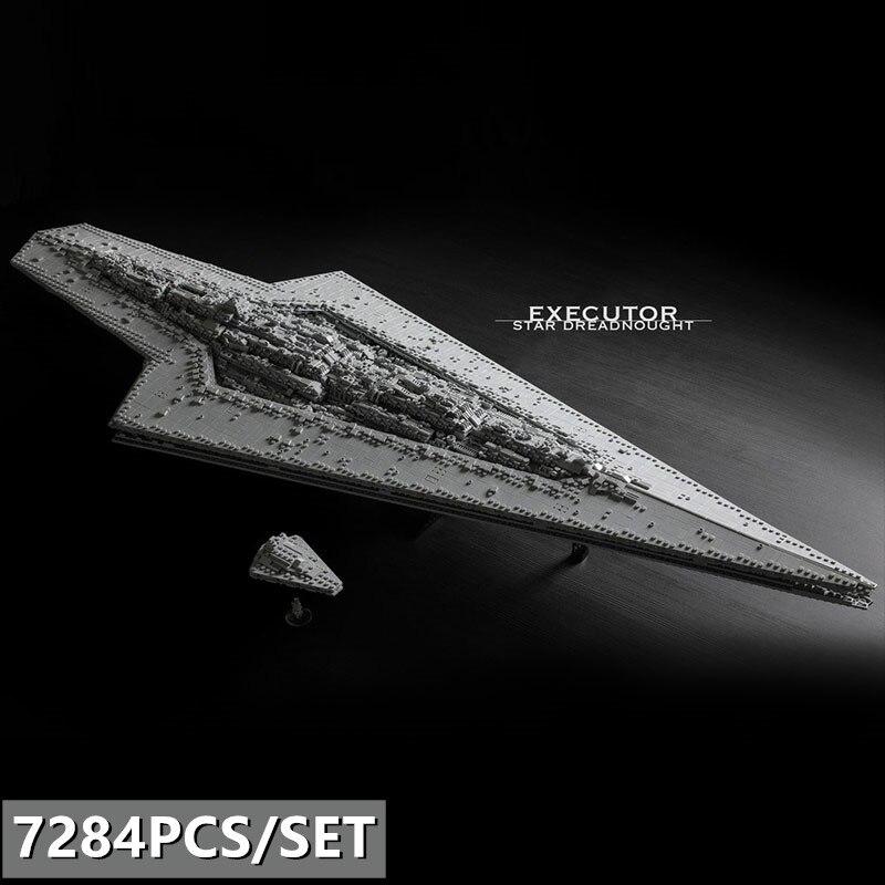 El nuevo albacea de la estrella de la Guerra de Las Galaxias Dreadnought MOC-15881 bloques la tecnología Star Wars barco juguetes de niño regalos de navidad