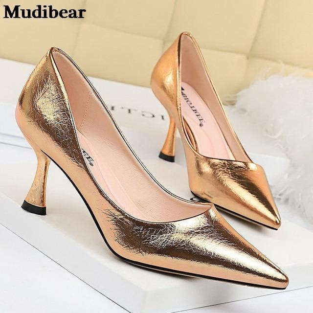 Купить туфли mudibear женские на высоком каблуке удобная свадебная картинки цена