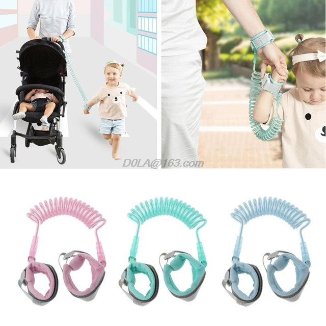 1.5M 2M 2.5M Adjustable Kids Safety Child Wrist Leash Anti-lost Link Children Belt Walking Assistant Baby Wristband Add Key Lock