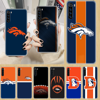 Denver Bronco American Football Phone Case cover For XIAOMI Redmi Note 3 4 4X 5 6 7 8 9 Pro T S max transparent hoesjes fashion image