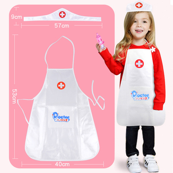 Kids Doctor Costumes Baby Girl Boy Play Role Play Doctor Clothing Toys Baby Nurse Doctor Small Holiday Festival Birthday Gifts tanie i dobre opinie CAMPSLE role-play nurse cloth
