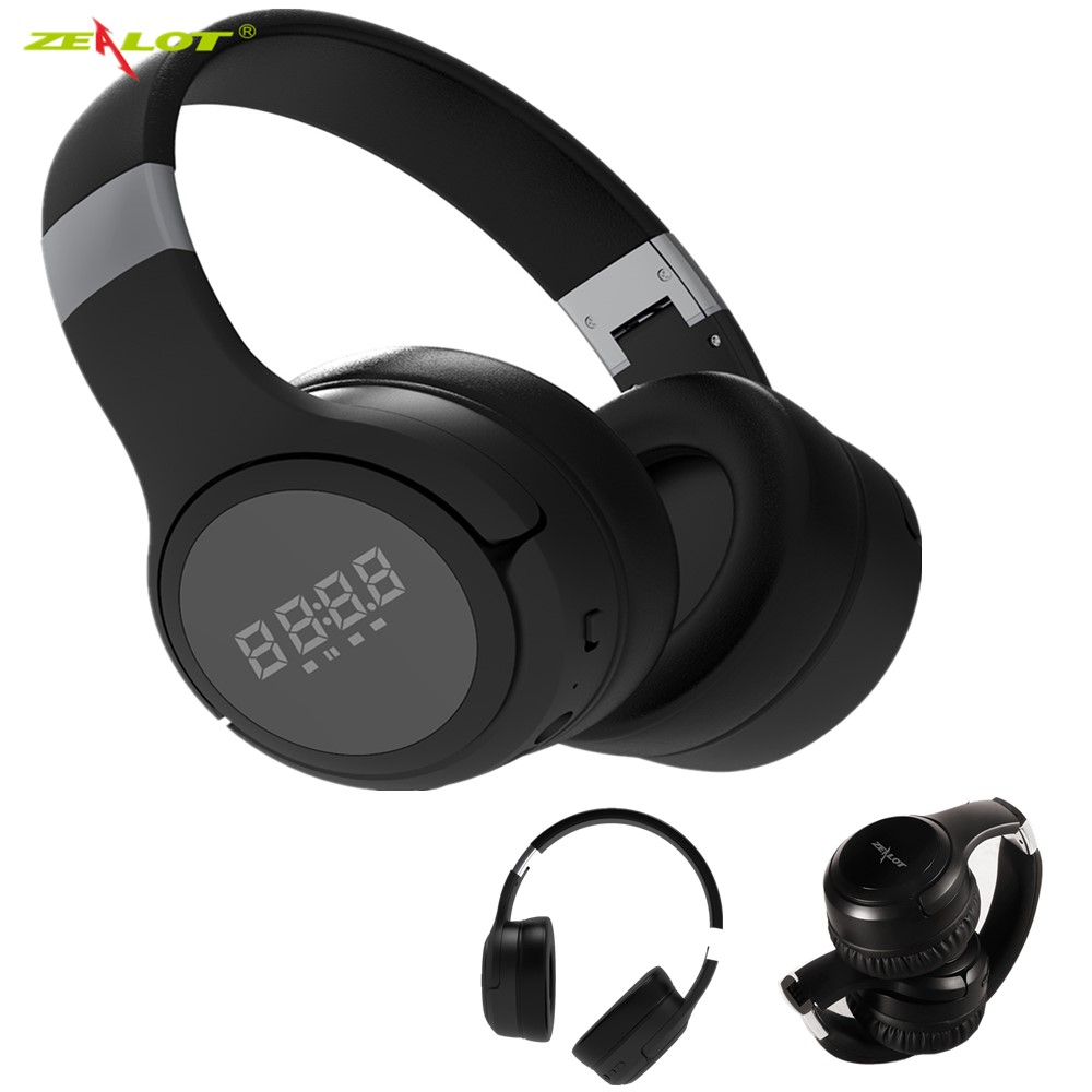 New Wireless Headphones Bluetooth Headset Foldable Stereo Headphone <font><b>Gaming</b></font> <font><b>Earphones</b></font> <font><b>With</b></font> <font><b>Microphone</b></font> For PC Mobile phone Mp3 image