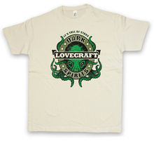 DARK LOVECRAFT SPIRITS T-SHIRT Wars Cthulhu Arkham H. P. Lovecraft Miskatonic 100% Cotton For Man Shirts fritz leiber h p lovecraft writers of the dark
