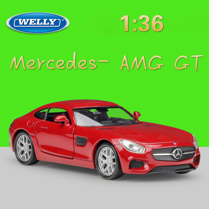 WELLY 1:36 Scale Classic Simulation Benz AMG GT Diecast Vehicle Model Car Pull Back Alloy Car Toy Metal Toy Car Gift Collection