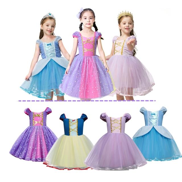 Robe princesse dhalloween pour filles de 2-3-4-5-6 ans, Costume de Performance scolaire, jeu de rôle princesse