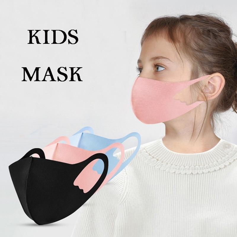 2020 New Kids Cotton Black Mouth Mask Anti Haze Dust Washable Reusable Dustproof Anti-Bacterial Outdoor Travel Dust Mask