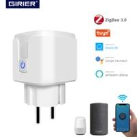 Tuya ZigBee 3.0 Smart Plug 16A con Monitor di alimentazione App Wireless presa per telecomando vocale presa EU lavora con Alexa Google Home