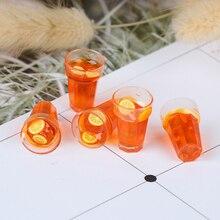 Toy Dollhouse-Accessories Miniature 1:12-Dollhouse Decoration Tea Pc 5pcs Cups Lemon