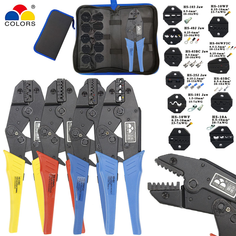 Kit Crimping Pliers HS-2546B/03B/10A/10WF Wire Stripper Multifunction Tools For Insulation/tube/pulg Terminals Electrical Tools