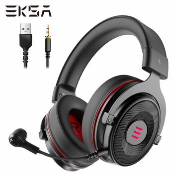 EKSA Gaming Headset with Microphone E900 Pro 7.1 Surround Headset Gamer USB/3.5mm Wired Headphones For PC PS4 Xbox one Earphones 1