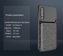 Ultra Thin Battery Charge Case For Xiaomi Mix2 Mix 2s 2 Silicon shockproof Portable Power Bank charger case