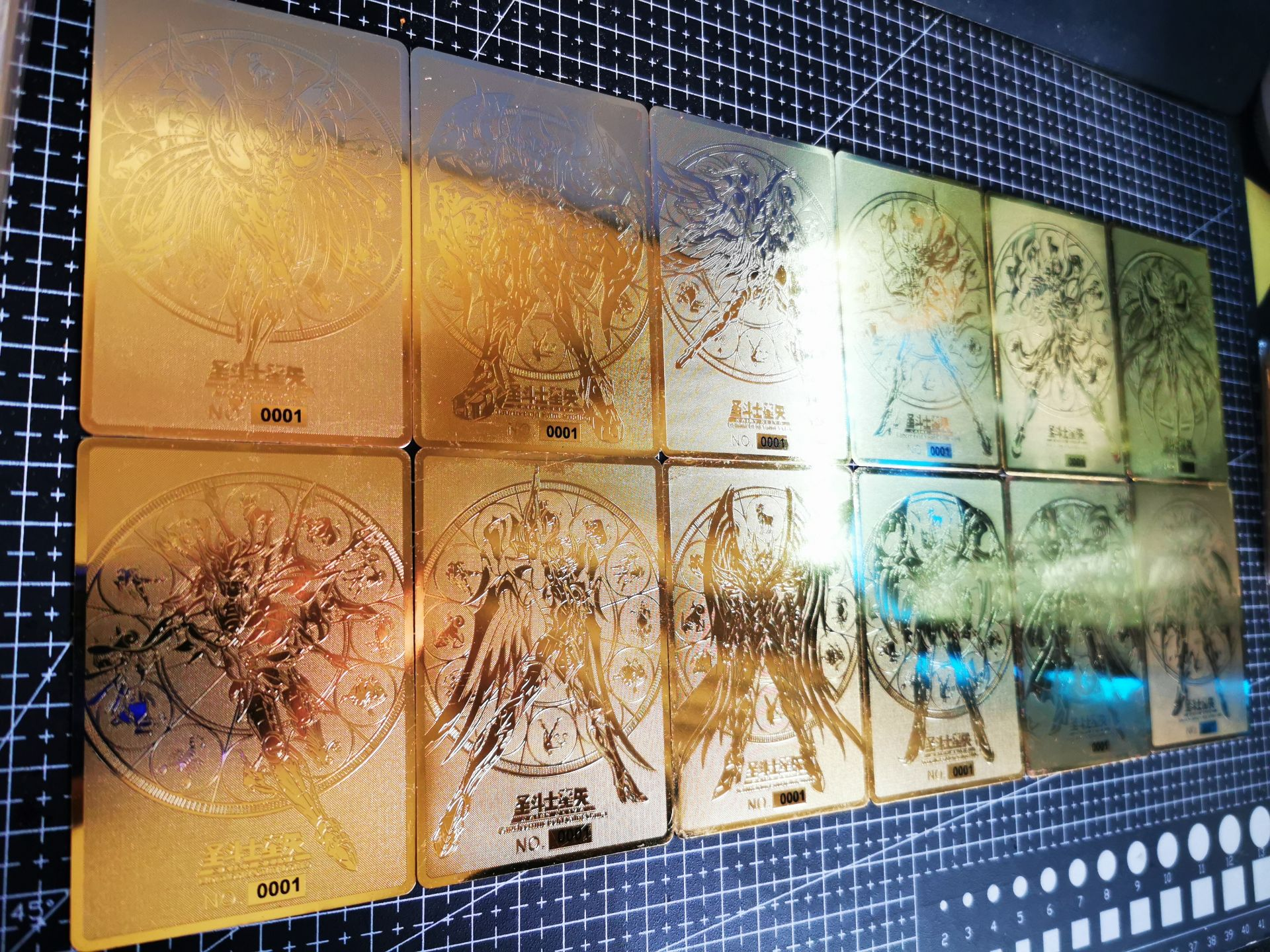 12pcs/set Saint Seiya Gold Soul Metal  The Signs Of The Zodiac Toys Hobbies Hobby Collectibles Game Collection Anime Cards