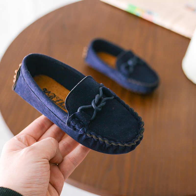 לדדות תינוק נעלי ילדים נעלי ילדים שטוחים בני רך קטיפה מזדמן בנות נעלי בית הספר קלאסי נעל אפונת 2019