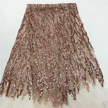High Quality Nigerian Sequins Lace Fabrics French Swiss Net Lace Fabric For Wedding Party Embroidery African Lace Fabric