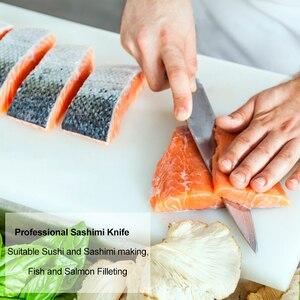 Image 5 - Японский нож сашими для суши, 27 см, кухонный нож из немецкой нержавеющей стали, японский лосось, сырая рыба, филе, янагиба, кухонный нож 10,2 г
