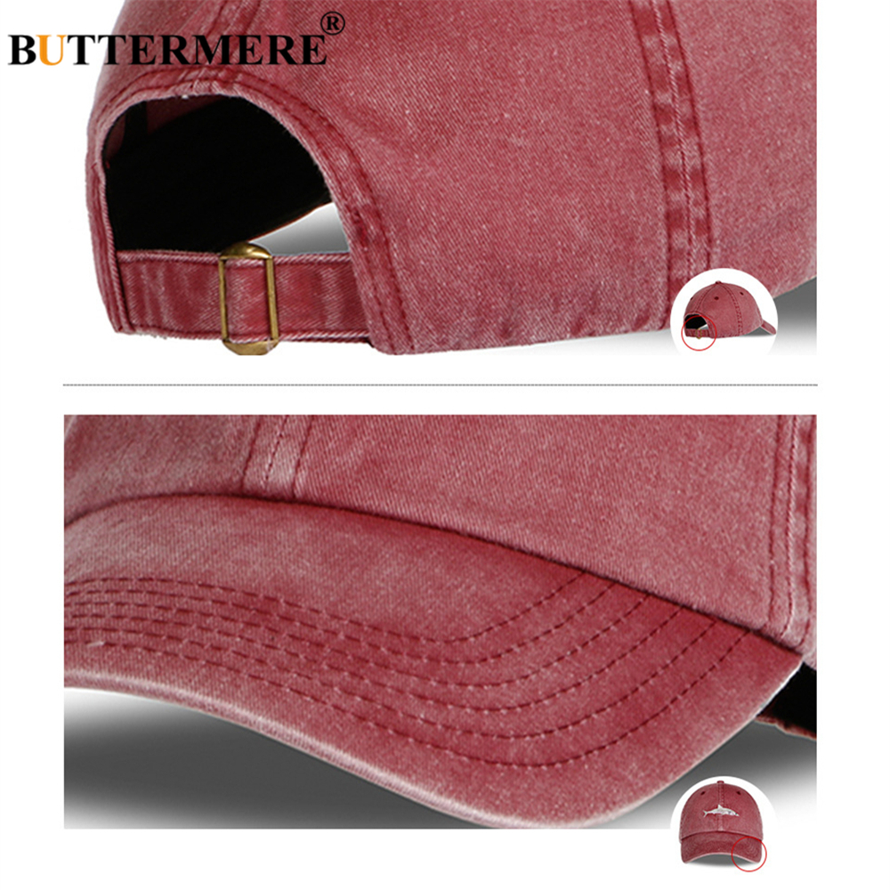 Image 5 - BUTTERMERE Hat Men Shark Baseball Cap Black Famale Male Autumn Winter Snapback Designer Brand Dad Hat