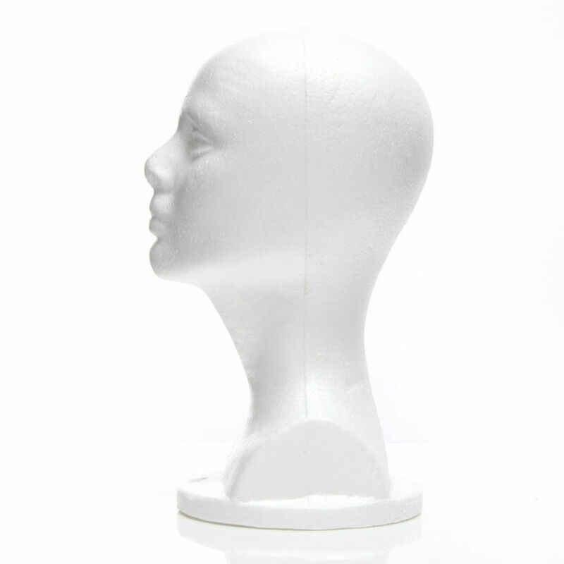 Nowy mężczyzna biały z pianki polistyrenowej Styrofoam głowy stoją Model peruki manekin głowy włosy kapelusz zestaw słuchawkowy stojak stojak