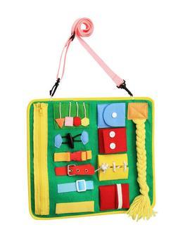 Montessori podstawowe umiejętności aktywność deska dziecko aktywność deska maluch zajęty deska życie umiejętność dowiedz się sukienka nauka zabawki edukacyjne tanie i dobre opinie 2-4 lata 5-7 lat Learning Board