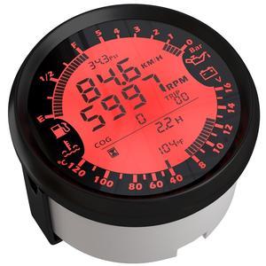 Image 2 - มัลติฟังก์ชั่นอัตโนมัติGaugeการปรับเปลี่ยน 85 มม.GPS Speedometer Tachการใช้ 8 16V VOLT Meterเครื่องวัดอุณหภูมิน้ำ 0 5Barความดันน้ำมัน