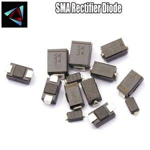50PCS FR107 F1M SR1100 SS110 FR107 F7 SS220 SR220 SR2100 SS210 IN5822 SK34 SS14 1N5819 SS310 SR3100 UF4004 US1G SMA Schottky