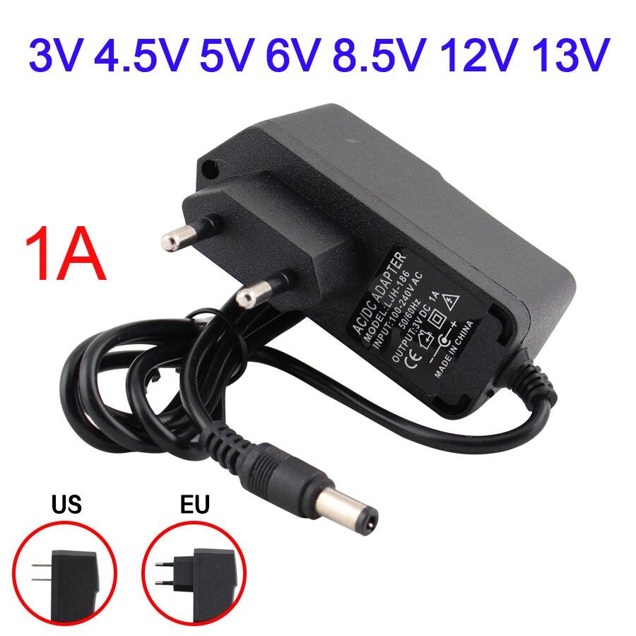 Adaptador de corriente CA de 220V a 12V 5V fuente de alimentación de CC 3V 4,5 V 5V 6V 8,5 V 12V 13V 1A cargador de fuente de luz Led Adaptador de adaptador de 3/4 pulgadas, cable de grifo, adaptador de tanque IBC, conector de reemplazo, válvula de conexión para conectores de hogar para jardín Irr