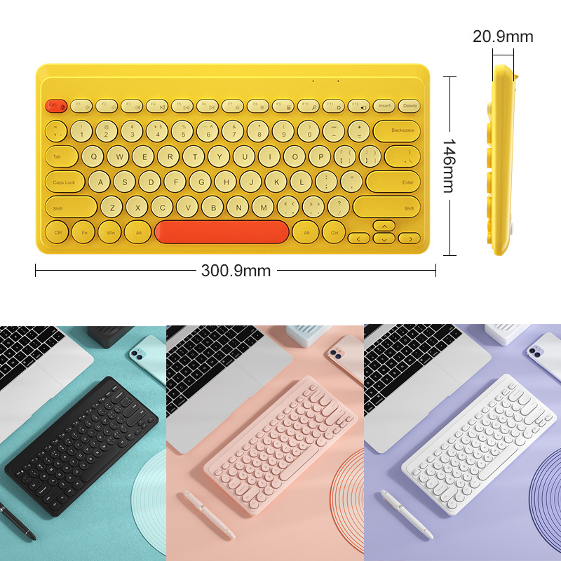 2.4G Wireless Keyboard USB 79 Keycaps Mute Gaming Keyboard Wireless For PC Gamer Office Work Computer Laptop Mac Mini Keyboards-5