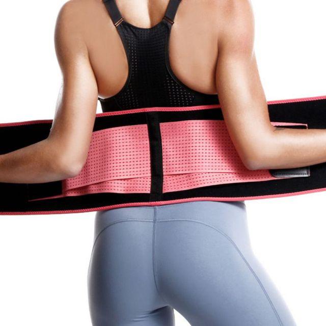 Waist Slimming Trimmer Trainer Belt Weight Loss Premium Neoprene Sport Sweat Waist Belt Body Shaper Sauna Exercise 2