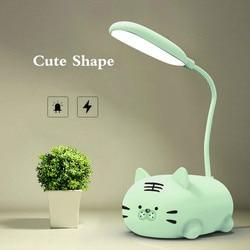 LED Desk Lamp USB Charging Bedside Table Lamp Living Room Badroom Decor Cute Bear Gifts for Children